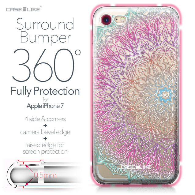 Apple iPhone 7 case Mandala Art 2090 Bumper Case Protection | CASEiLIKE.com