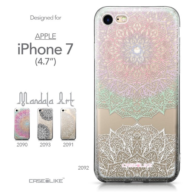 Apple iPhone 7 case Mandala Art 2092 Collection | CASEiLIKE.com