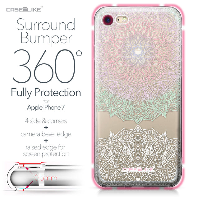 Apple iPhone 7 case Mandala Art 2092 Bumper Case Protection | CASEiLIKE.com