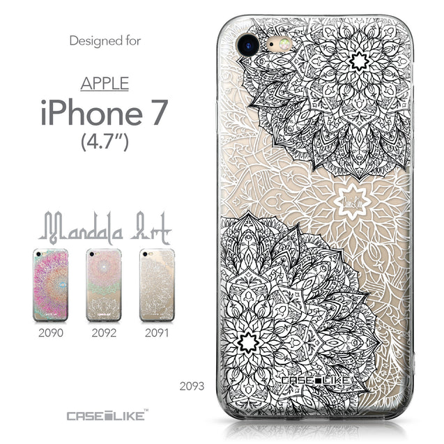 Apple iPhone 7 case Mandala Art 2093 Collection | CASEiLIKE.com