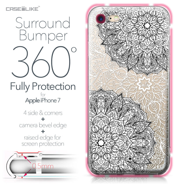 Apple iPhone 7 case Mandala Art 2093 Bumper Case Protection | CASEiLIKE.com