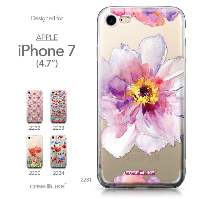 Apple iPhone 7 case Watercolor Floral 2231 Collection | CASEiLIKE.com
