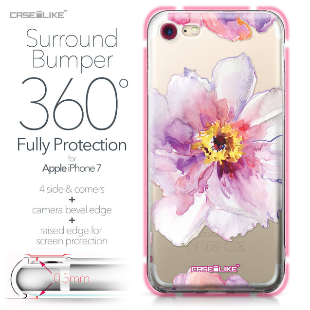 Apple iPhone 7 case Watercolor Floral 2231 Bumper Case Protection | CASEiLIKE.com