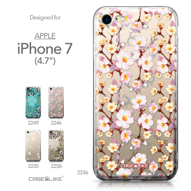 Apple iPhone 7 case Watercolor Floral 2236 Collection | CASEiLIKE.com