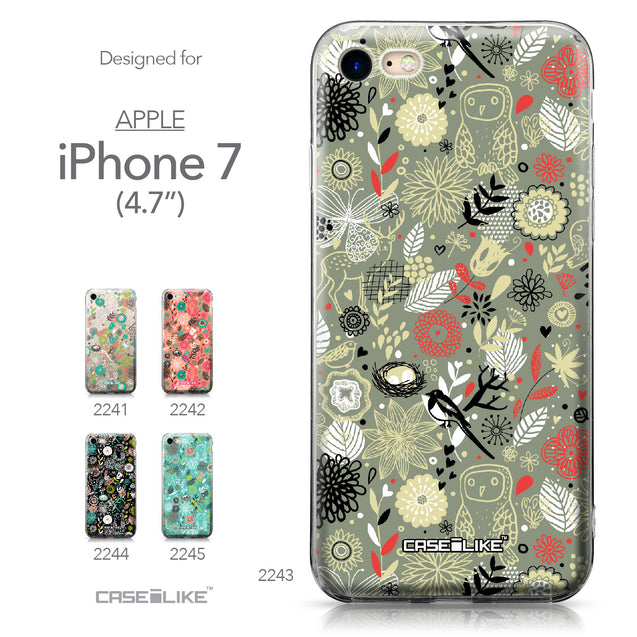 Apple iPhone 7 case Spring Forest Gray 2243 Collection | CASEiLIKE.com