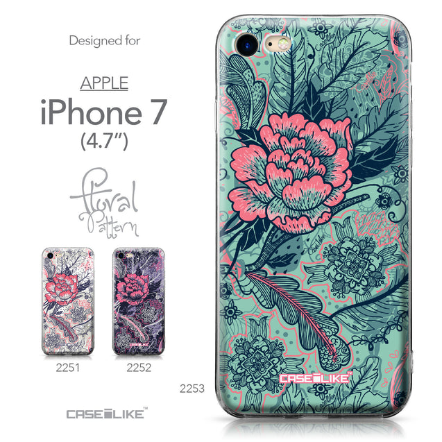 Apple iPhone 7 case Vintage Roses and Feathers Turquoise 2253 Collection | CASEiLIKE.com