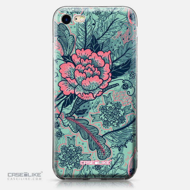 Apple iPhone 7 case Vintage Roses and Feathers Turquoise 2253 | CASEiLIKE.com