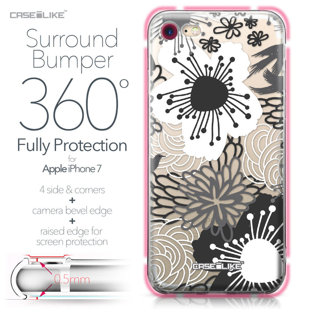 Apple iPhone 7 case Japanese Floral 2256 Bumper Case Protection | CASEiLIKE.com