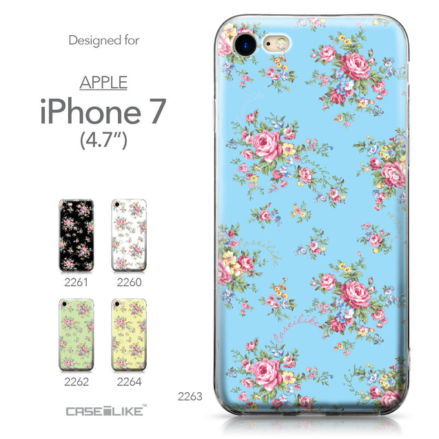 Apple iPhone 7 case Floral Rose Classic 2263 Collection | CASEiLIKE.com