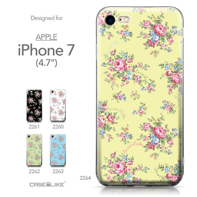 Apple iPhone 7 case Floral Rose Classic 2264 Collection | CASEiLIKE.com