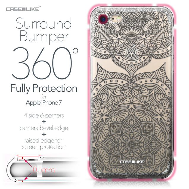 Apple iPhone 7 case Mandala Art 2304 Bumper Case Protection | CASEiLIKE.com