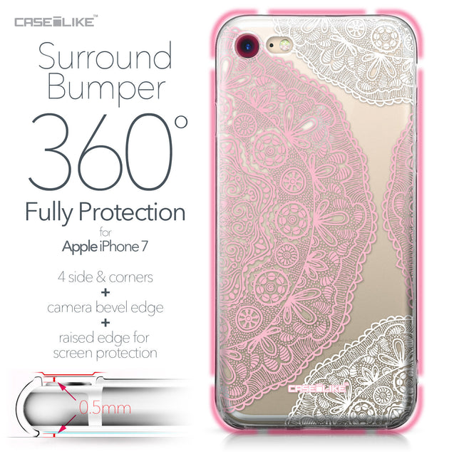 Apple iPhone 7 case Mandala Art 2305 Bumper Case Protection | CASEiLIKE.com
