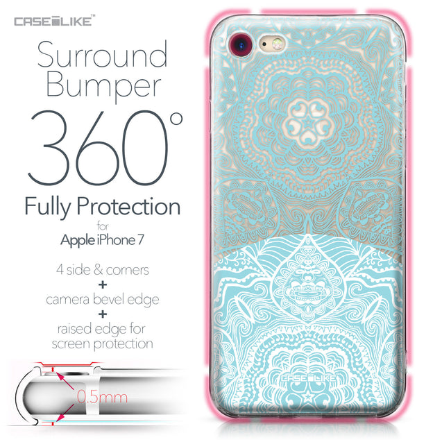 Apple iPhone 7 case Mandala Art 2306 Bumper Case Protection | CASEiLIKE.com