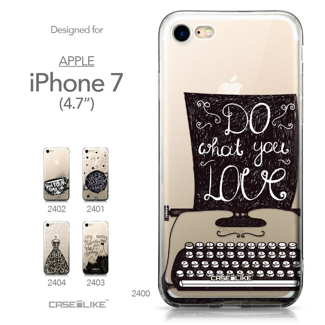 Apple iPhone 7 case Quote 2400 Collection | CASEiLIKE.com