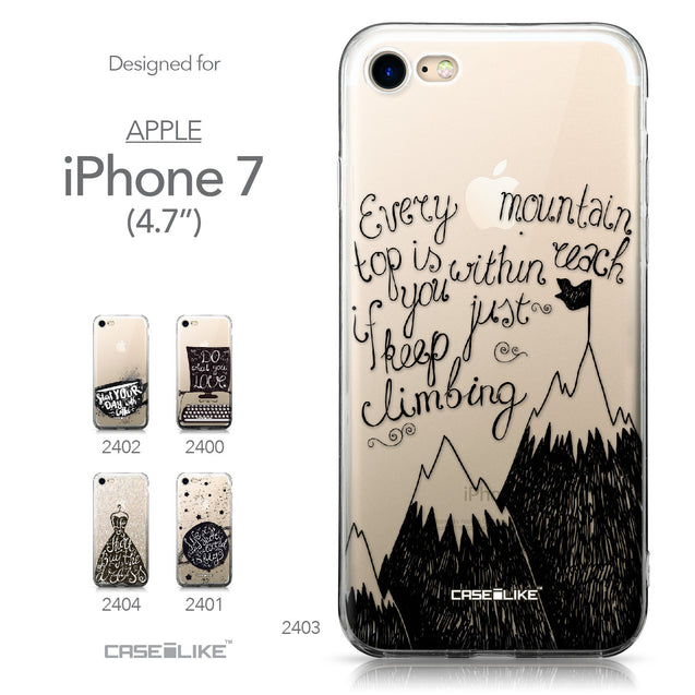Apple iPhone 7 case Quote 2403 Collection | CASEiLIKE.com