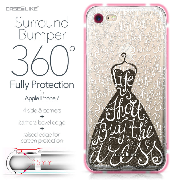 Apple iPhone 7 case Quote 2404 Bumper Case Protection | CASEiLIKE.com