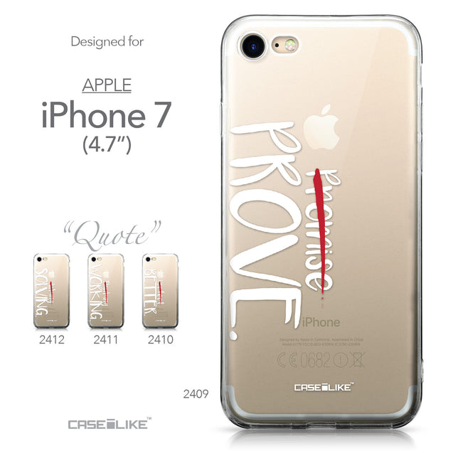 Apple iPhone 7 case Quote 2409 Collection | CASEiLIKE.com