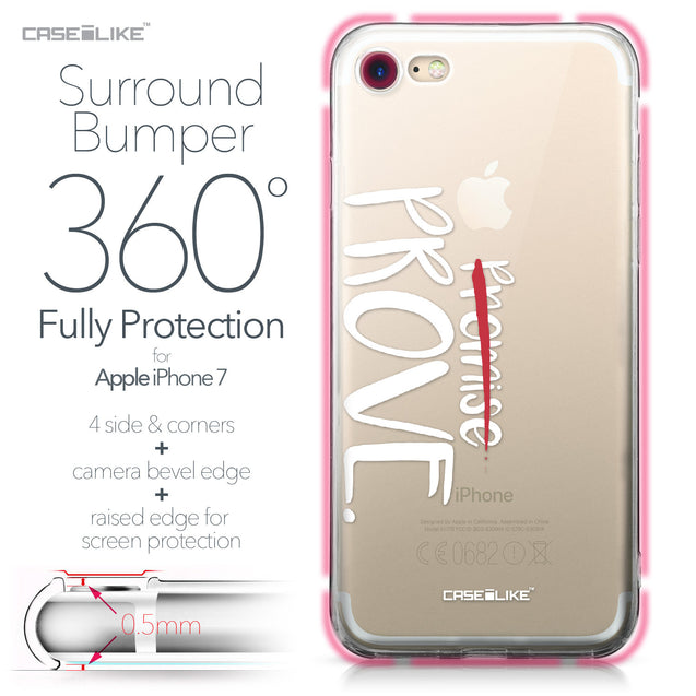 Apple iPhone 7 case Quote 2409 Bumper Case Protection | CASEiLIKE.com
