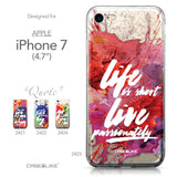 Apple iPhone 7 case Quote 2423 Collection | CASEiLIKE.com