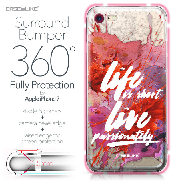 Apple iPhone 7 case Quote 2423 Bumper Case Protection | CASEiLIKE.com