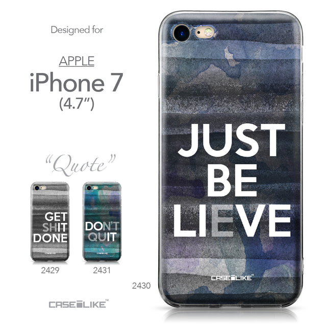 Apple iPhone 7 case Quote 2430 Collection | CASEiLIKE.com