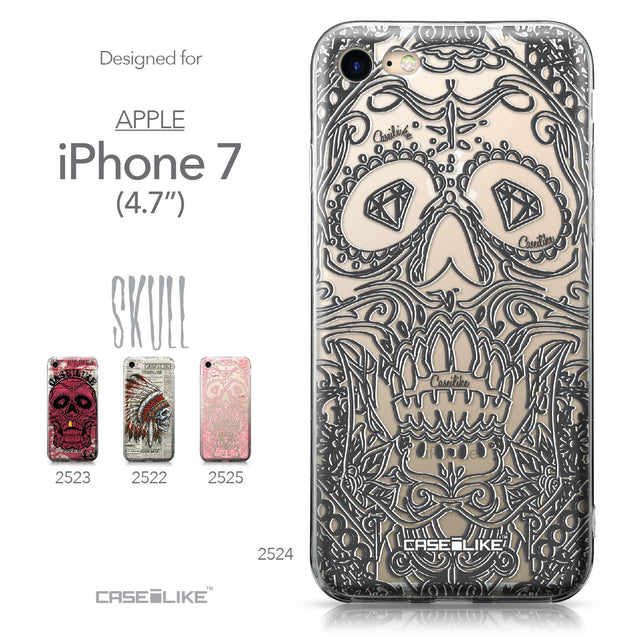 Apple iPhone 7 case Art of Skull 2524 Collection | CASEiLIKE.com