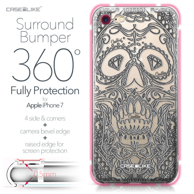 Apple iPhone 7 case Art of Skull 2524 Bumper Case Protection | CASEiLIKE.com