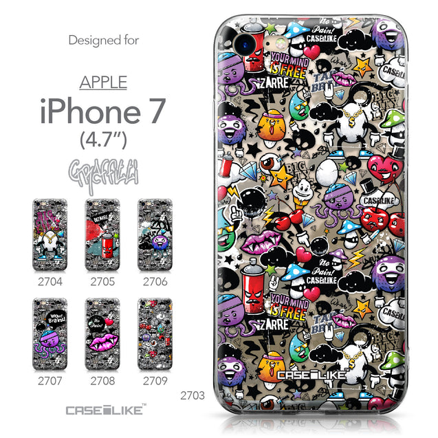 Apple iPhone 7 case Graffiti 2703 Collection | CASEiLIKE.com