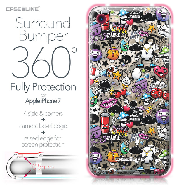 Apple iPhone 7 case Graffiti 2703 Bumper Case Protection | CASEiLIKE.com