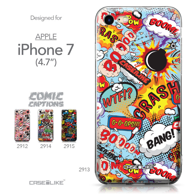 Apple iPhone 7 case Comic Captions Blue 2913 Collection | CASEiLIKE.com