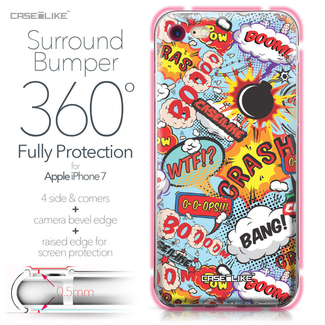 Apple iPhone 7 case Comic Captions Blue 2913 Bumper Case Protection | CASEiLIKE.com