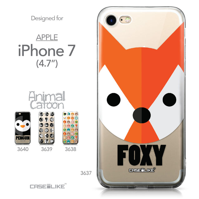 Apple iPhone 7 case Animal Cartoon 3637 Collection | CASEiLIKE.com