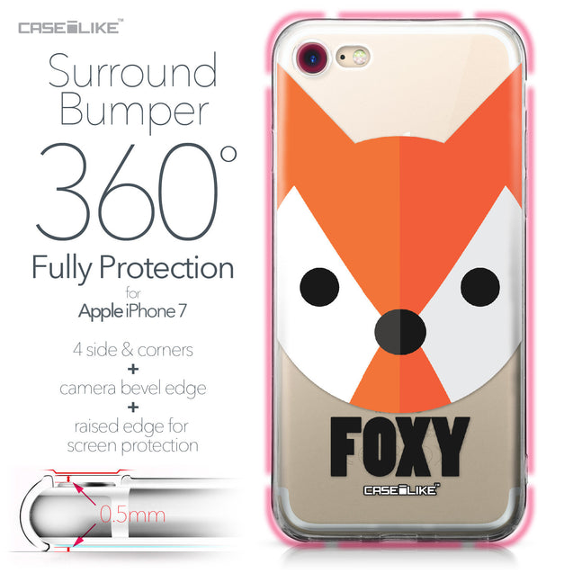 Apple iPhone 7 case Animal Cartoon 3637 Bumper Case Protection | CASEiLIKE.com