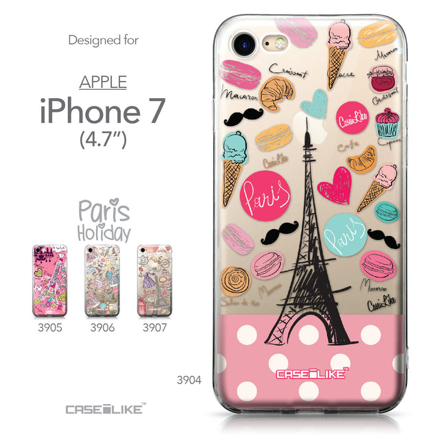 Apple iPhone 7 case Paris Holiday 3904 Collection | CASEiLIKE.com
