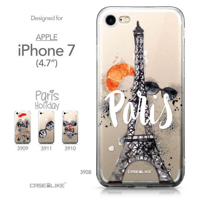 Apple iPhone 7 case Paris Holiday 3908 Collection | CASEiLIKE.com