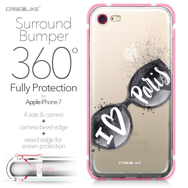 Apple iPhone 7 case Paris Holiday 3911 Bumper Case Protection | CASEiLIKE.com