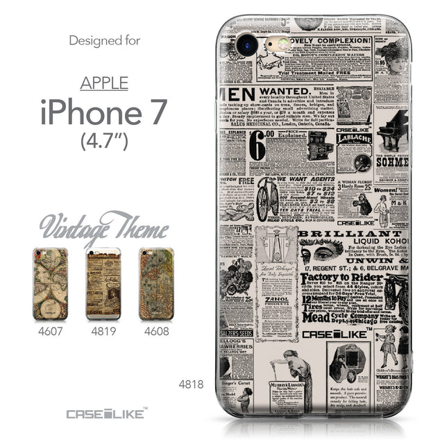 Apple iPhone 7 case Vintage Newspaper Advertising 4818 Collection | CASEiLIKE.com