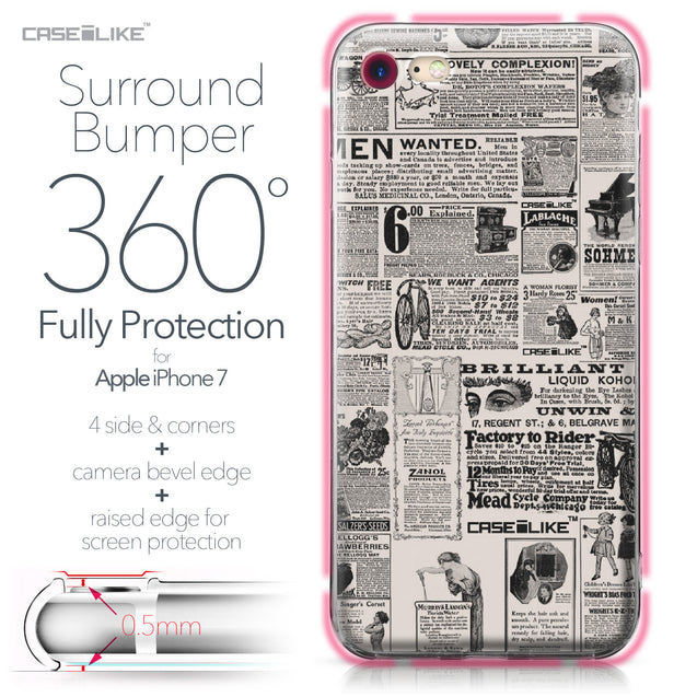 Apple iPhone 7 case Vintage Newspaper Advertising 4818 Bumper Case Protection | CASEiLIKE.com