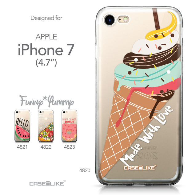 Apple iPhone 7 case Ice Cream 4820 Collection | CASEiLIKE.com