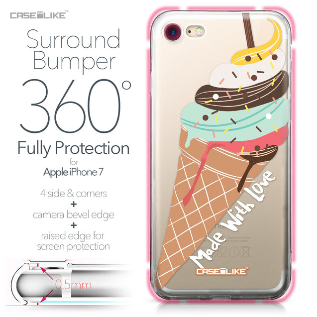 Apple iPhone 7 case Ice Cream 4820 Bumper Case Protection | CASEiLIKE.com