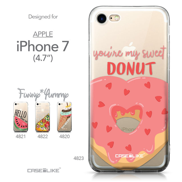 Apple iPhone 7 case Dounuts 4823 Collection | CASEiLIKE.com