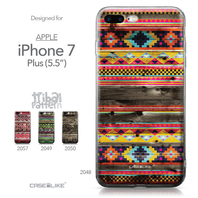 Apple iPhone 7 Plus case Indian Tribal Theme Pattern 2048 Collection | CASEiLIKE.com