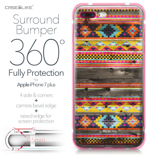 Apple iPhone 7 Plus case Indian Tribal Theme Pattern 2048 Bumper Case Protection | CASEiLIKE.com