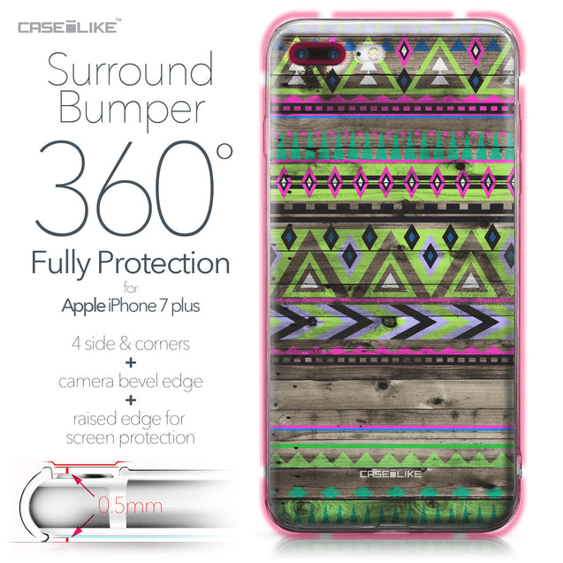 Apple iPhone 7 Plus case Indian Tribal Theme Pattern 2049 Bumper Case Protection | CASEiLIKE.com