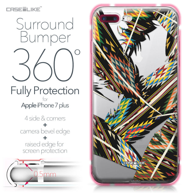 Apple iPhone 7 Plus case Indian Tribal Theme Pattern 2053 Bumper Case Protection | CASEiLIKE.com