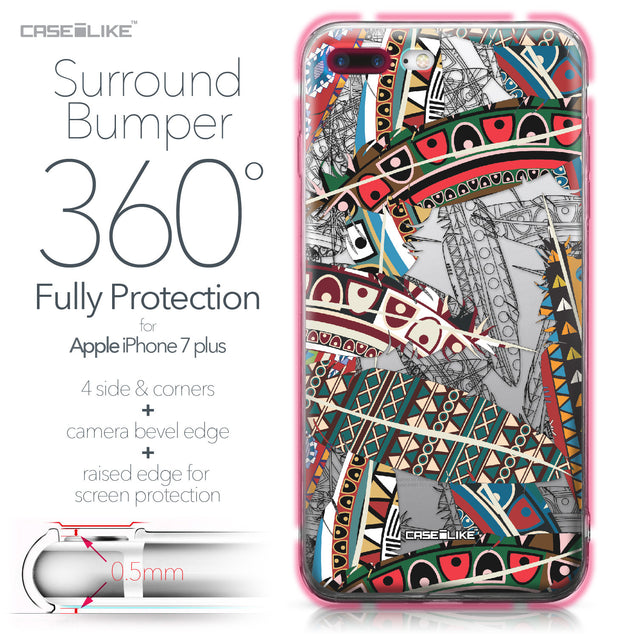 Apple iPhone 7 Plus case Indian Tribal Theme Pattern 2055 Bumper Case Protection | CASEiLIKE.com