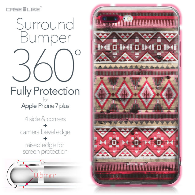 Apple iPhone 7 Plus case Indian Tribal Theme Pattern 2057 Bumper Case Protection | CASEiLIKE.com