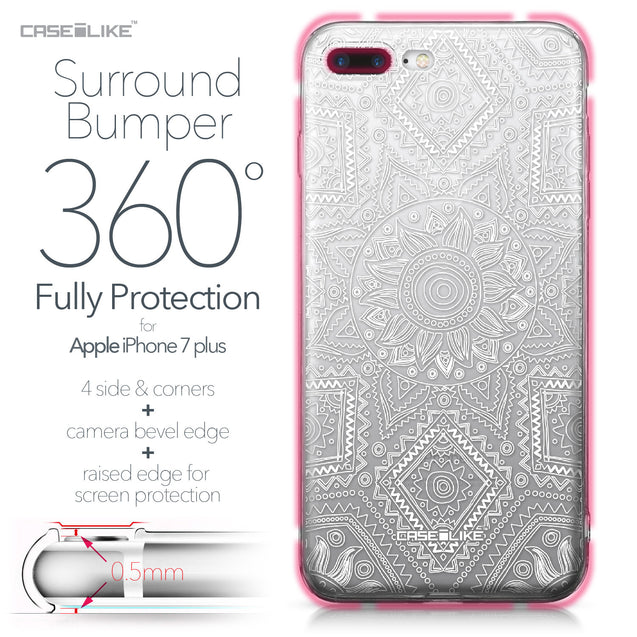 Apple iPhone 7 Plus case Indian Line Art 2061 Bumper Case Protection | CASEiLIKE.com