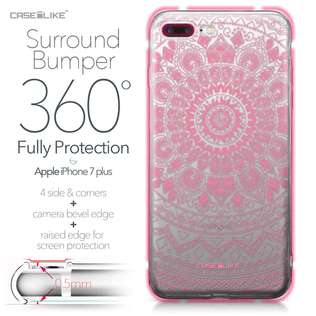 Apple iPhone 7 Plus case Indian Line Art 2062 Bumper Case Protection | CASEiLIKE.com