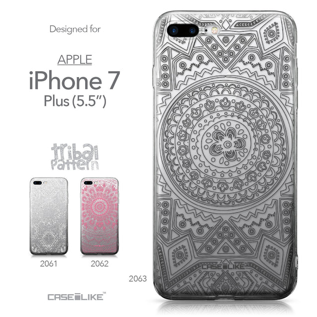 Apple iPhone 7 Plus case Indian Line Art 2063 Collection | CASEiLIKE.com